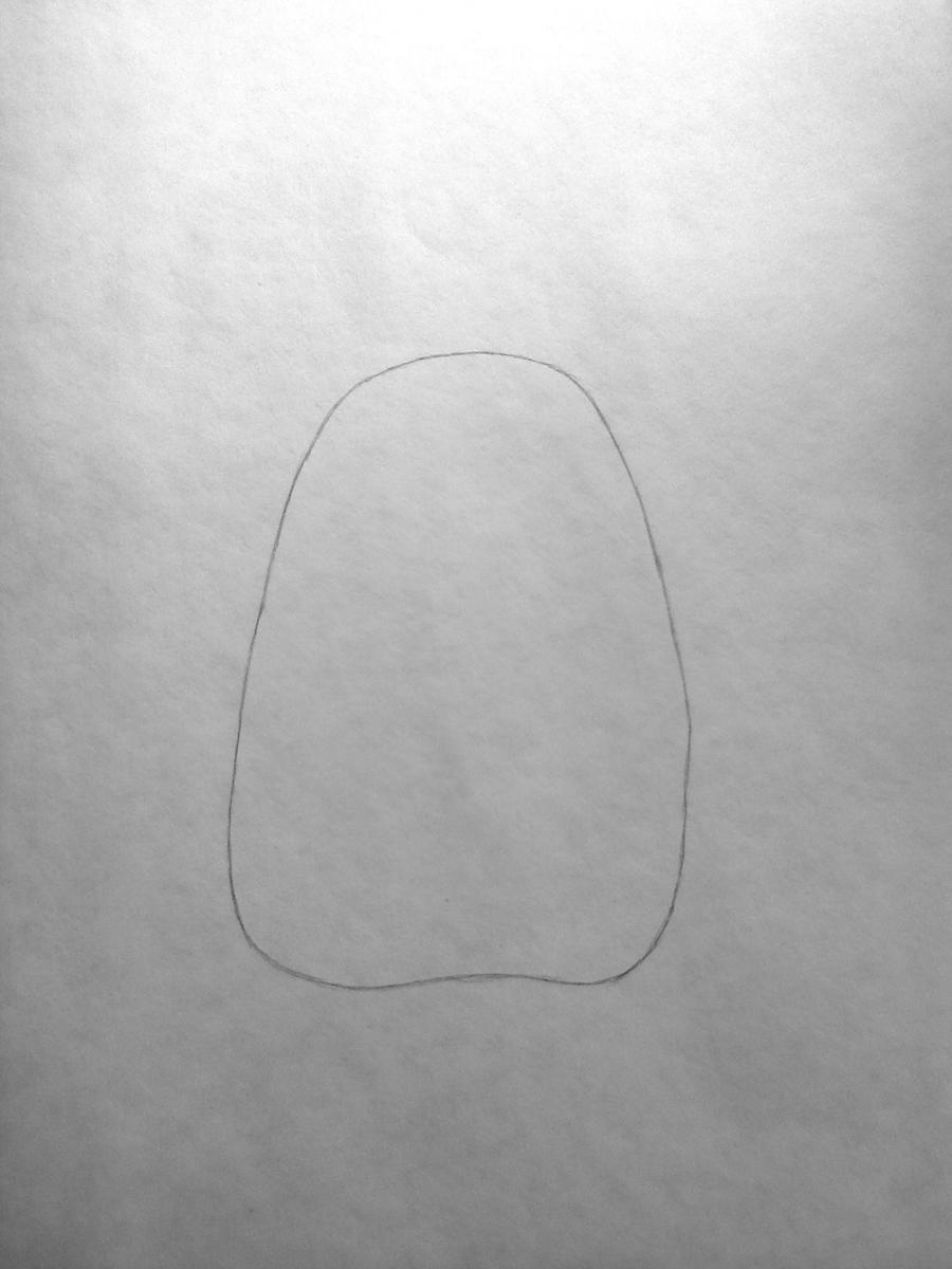 Рисуем Тоторо из аниме Мой сосед Тоторо - шаг 1