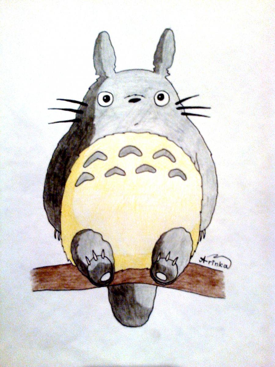 Рисуем Тоторо из аниме Мой сосед Тоторо - шаг 6