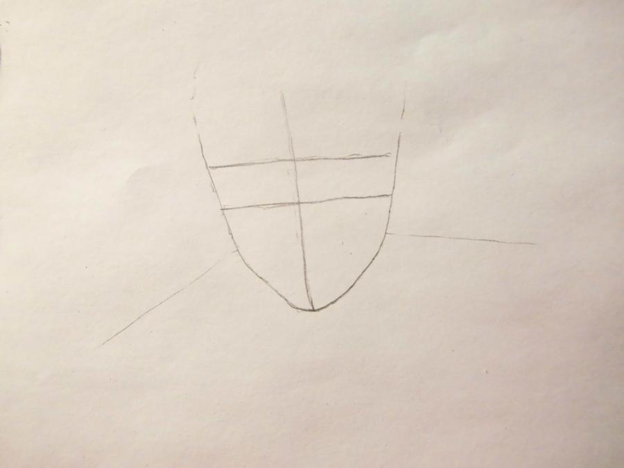 Рисуем Эрена Йегера простыми карандашами - шаг 1