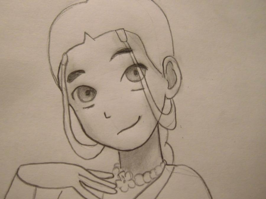Рисуем Катару из аниме Аватар - шаг 5