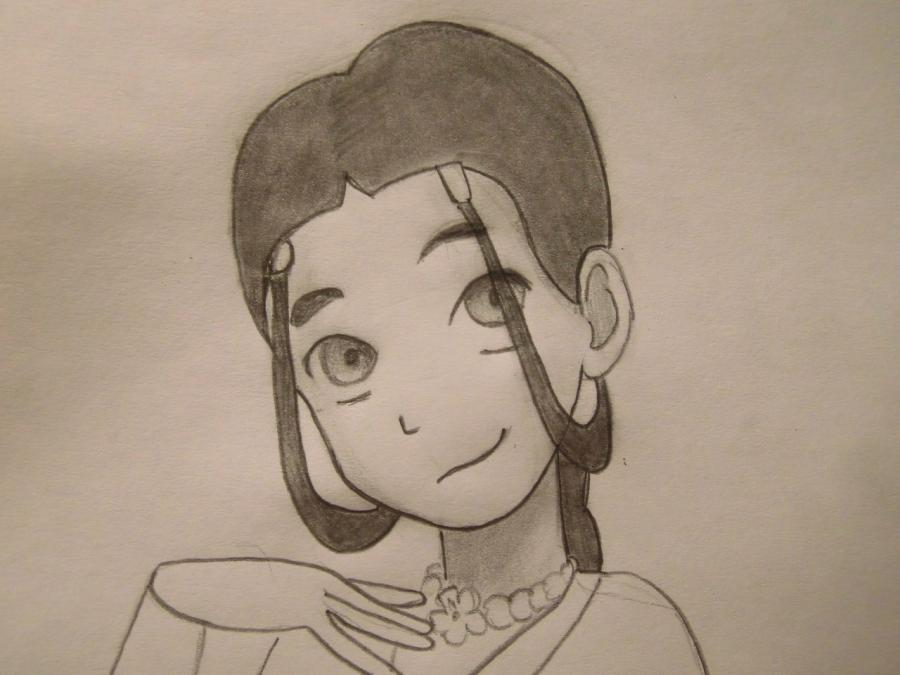 Рисуем Катару из аниме Аватар - шаг 6