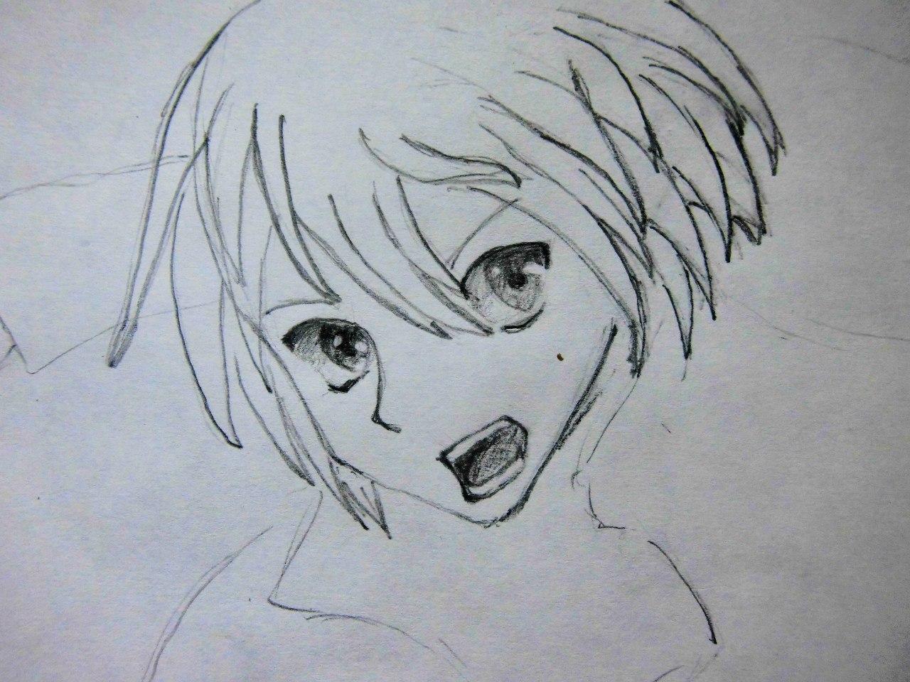 Рисуем Кадзуто Киригая с двумя мечами карандашами - шаг 3