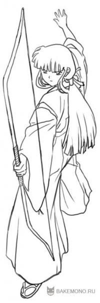 Кикио из Inuyasha карандашом