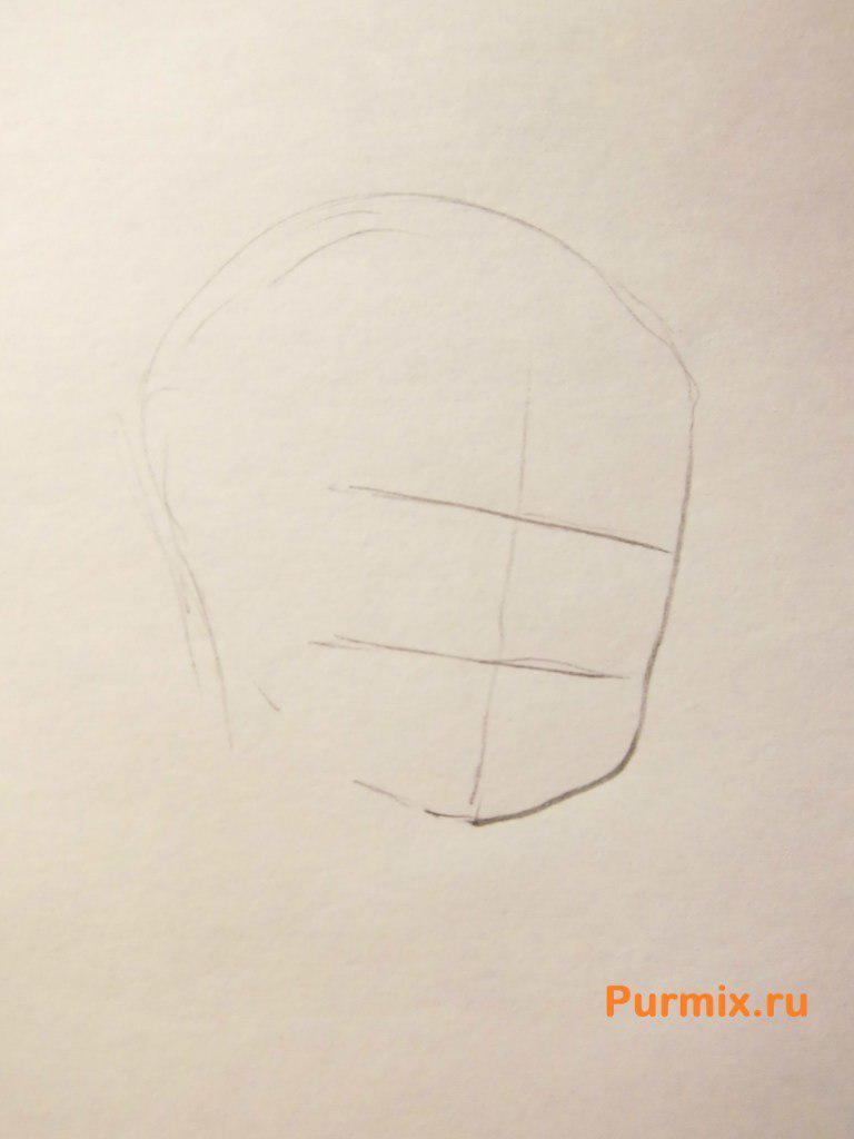 Рисуем Кадзуто Киригая из аниме Мастер меча онлайн карандашами - шаг 1
