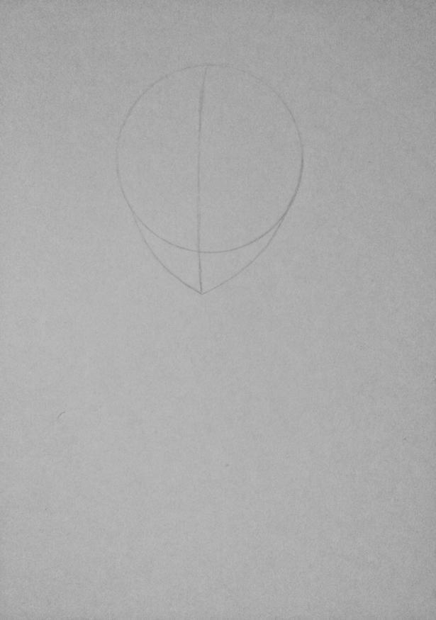 Рисуем Киришиму Тоуку из аниме Токийский гуль карандашами - шаг 1