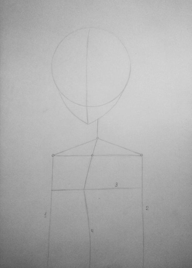 Рисуем Киришиму Тоуку из аниме Токийский гуль карандашами - шаг 2