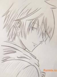Фото Кэй Такисима из аниме из Спецкласса «А» простым карандашом