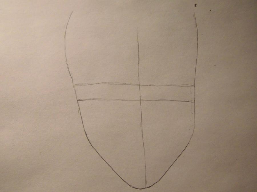 Рисуем Лайта Ягами из Тетрадь смерти карандашами - шаг 1