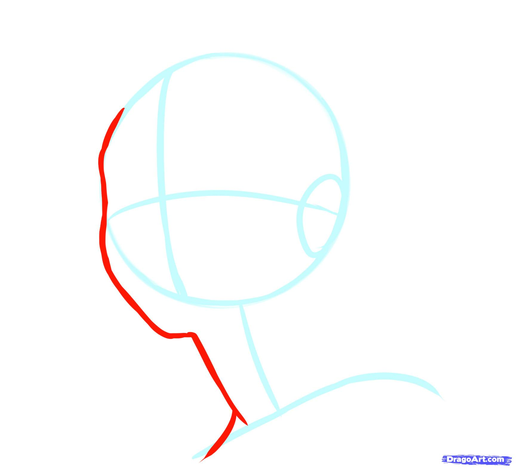 Рисуем лицо  девушки в стиле манга - шаг 8