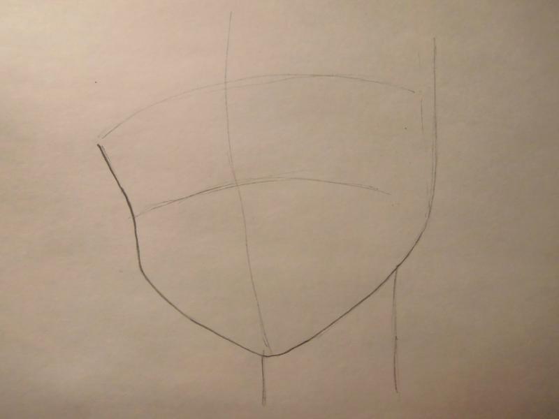 Рисуем лицо Сейлор Меркурий - шаг 1