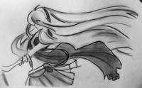 Лили из Вокалоидов карандашом