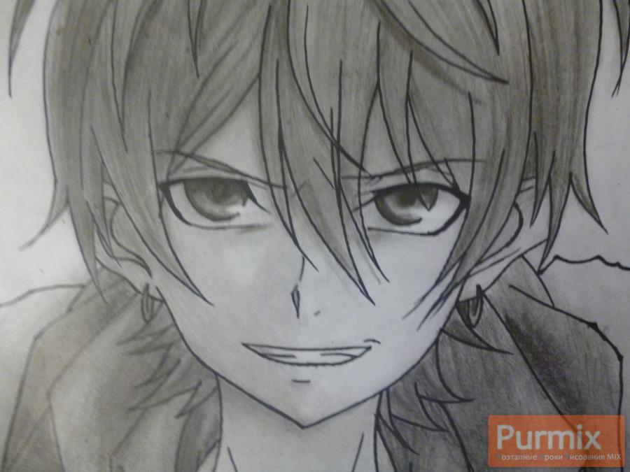 Рисуем Махиро Фува из аниме Буря потерь карандашами - шаг 10