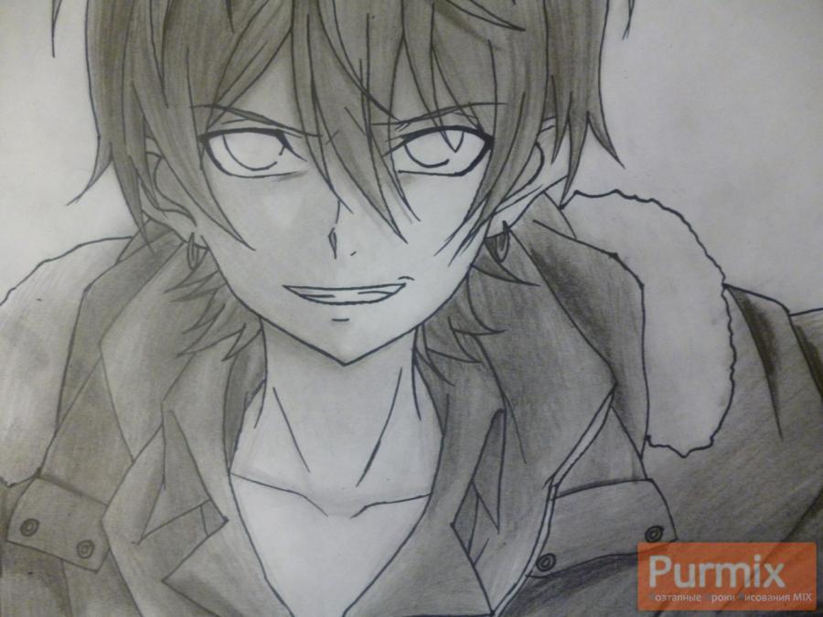 Рисуем Махиро Фува из аниме Буря потерь карандашами - шаг 9