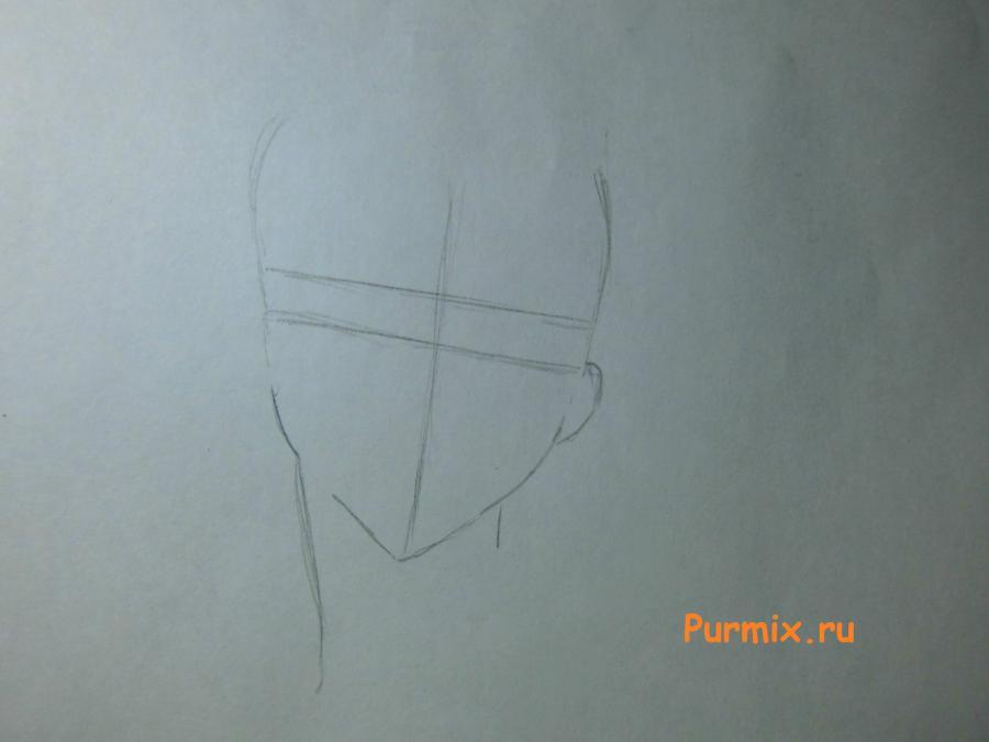 Как просто нарисовать портрет Махиро Фува простым - шаг 1