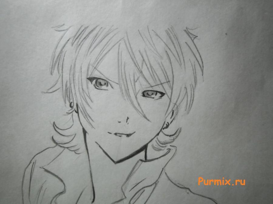 Как просто нарисовать портрет Махиро Фува простым - шаг 5