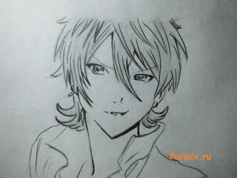 Как просто нарисовать портрет Махиро Фува простым - шаг 6