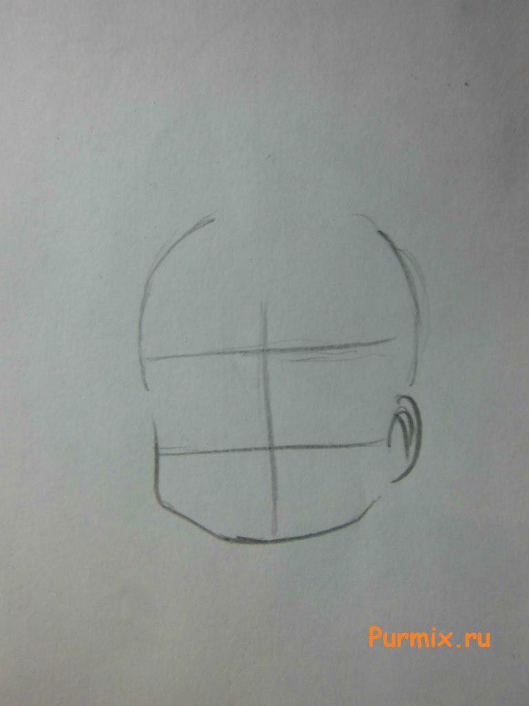 Рисуем маленькую Маи Минаками - шаг 1