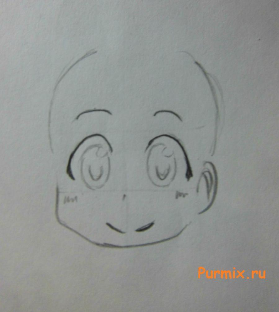 Рисуем маленькую Маи Минаками - шаг 2