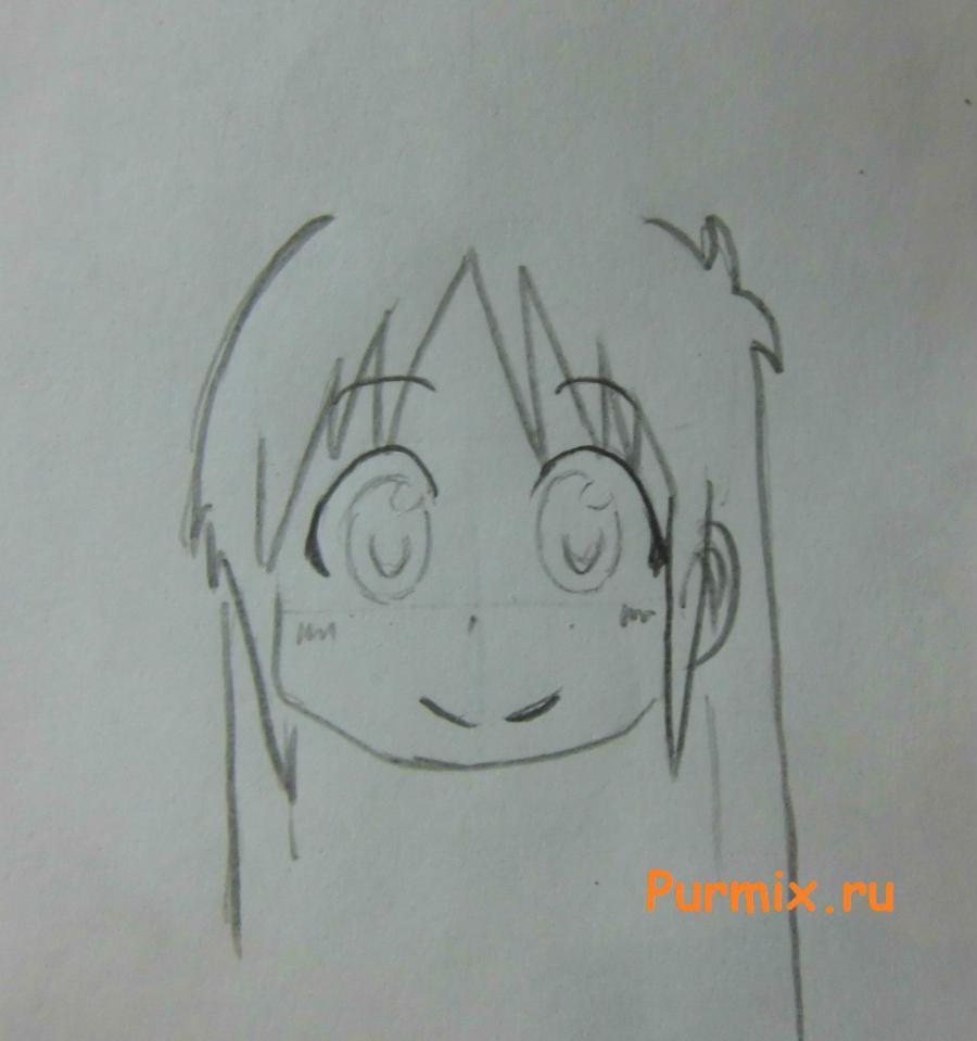 Рисуем маленькую Маи Минаками - шаг 3
