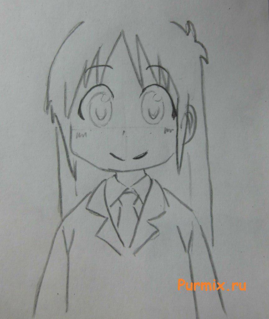 Рисуем маленькую Маи Минаками - шаг 4