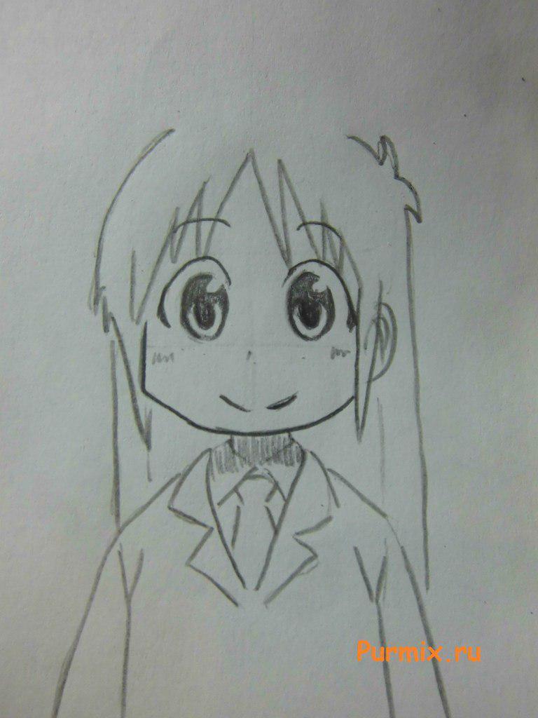 Рисуем маленькую Маи Минаками - шаг 5