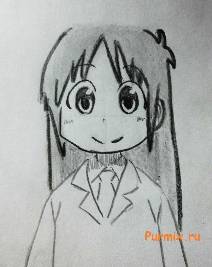 Рисуем маленькую Маи Минаками - шаг 6