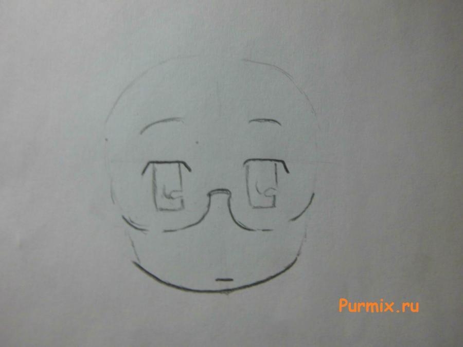 Рисуем Маи Минаками из Мелочи жизни карандашами - шаг 2