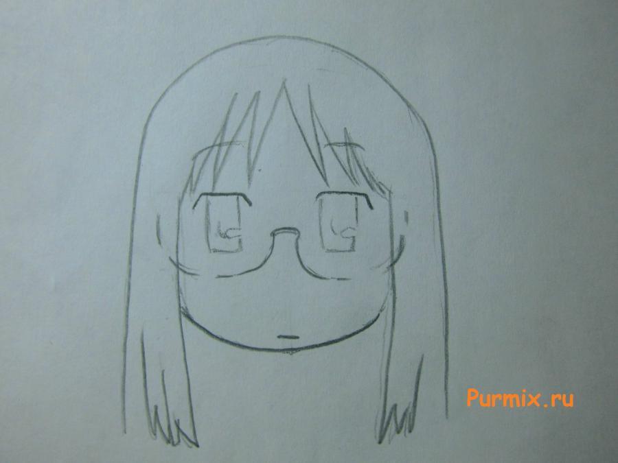 Рисуем Маи Минаками из Мелочи жизни карандашами - шаг 3