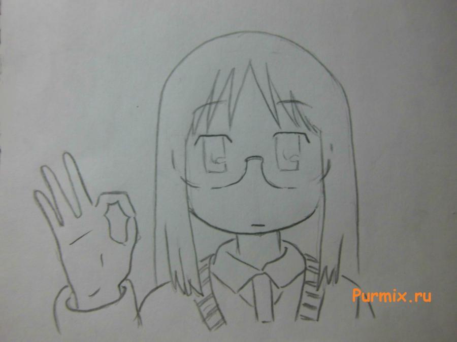 Рисуем Маи Минаками из Мелочи жизни карандашами - шаг 4