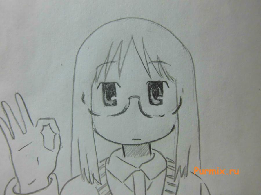Рисуем Маи Минаками из Мелочи жизни карандашами - шаг 5