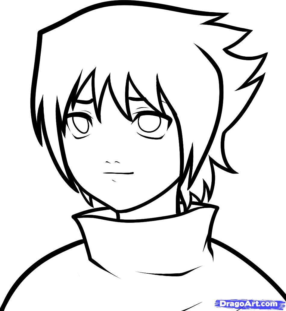 Рисуем маленького Саске Учиху - шаг 8
