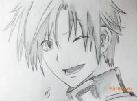 Микагэ из аниме Очень приятно, Бог карандашом