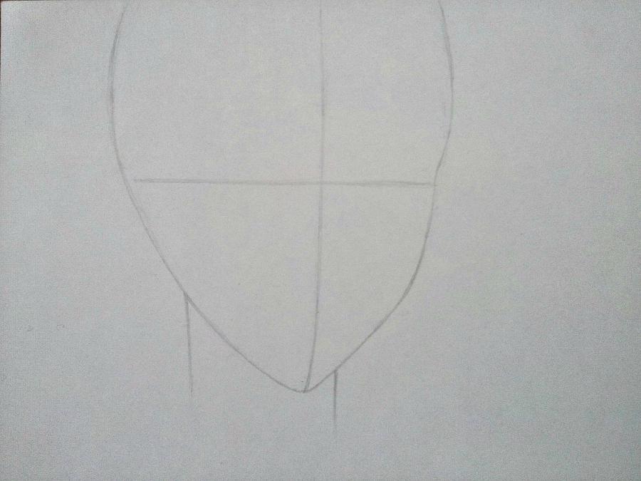 Рисуем Микагэ из Очень приятно, Бог простым - шаг 1