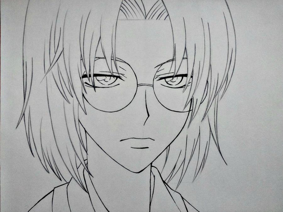 Рисуем Микагэ из Очень приятно, Бог простым - шаг 10
