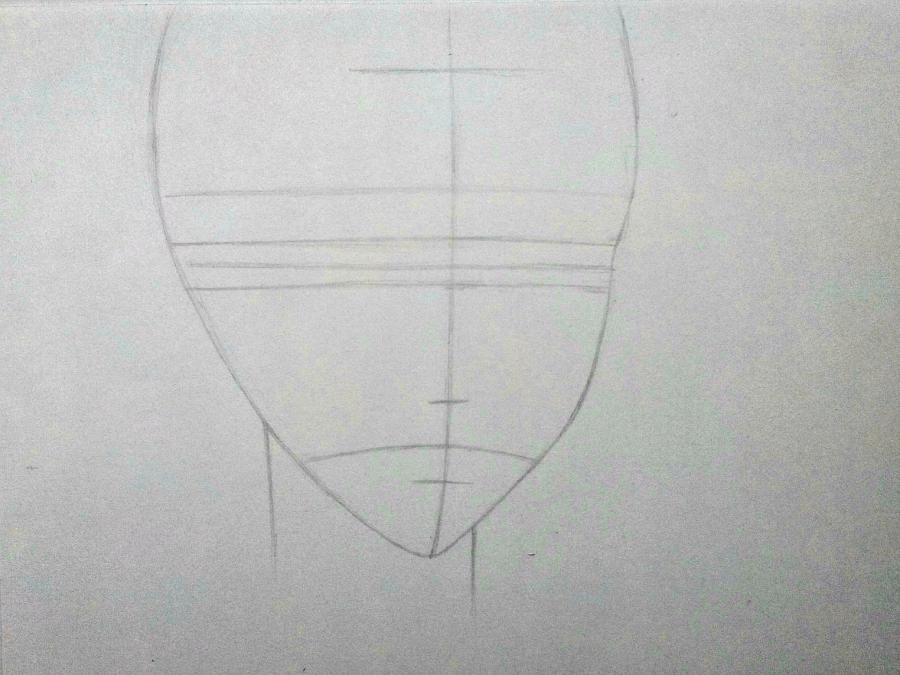 Рисуем Микагэ из Очень приятно, Бог простым - шаг 2
