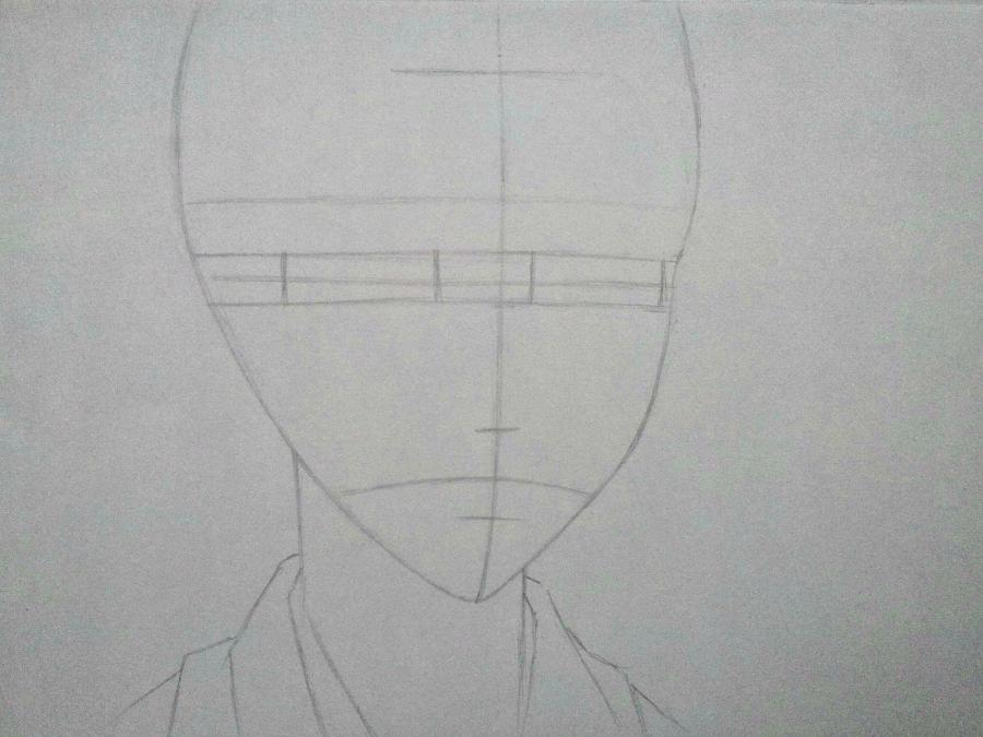 Рисуем Микагэ из Очень приятно, Бог простым - шаг 3