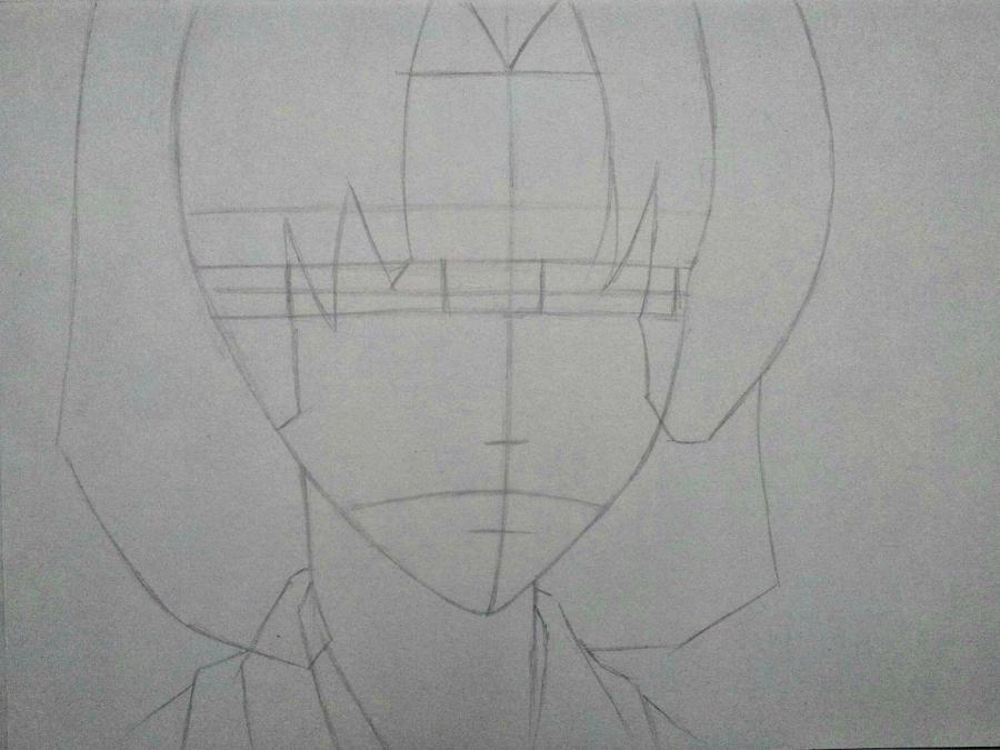 Рисуем Микагэ из Очень приятно, Бог простым - шаг 4