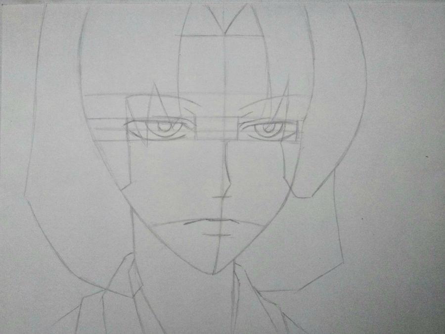 Рисуем Микагэ из Очень приятно, Бог простым - шаг 5
