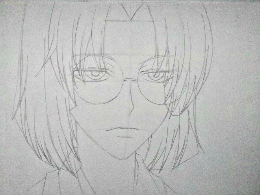 Рисуем Микагэ из Очень приятно, Бог простым - шаг 7
