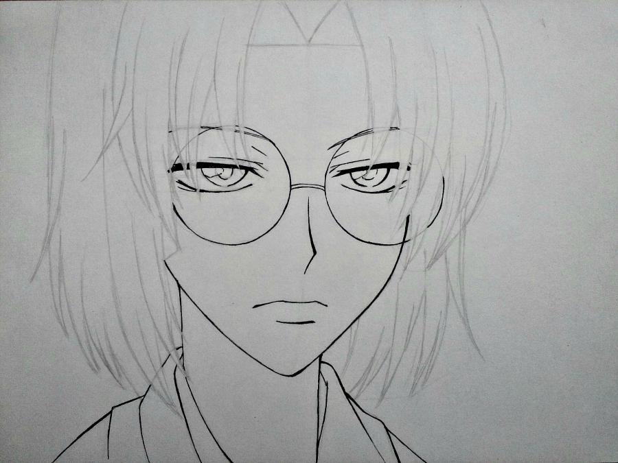 Рисуем Микагэ из Очень приятно, Бог простым - шаг 8
