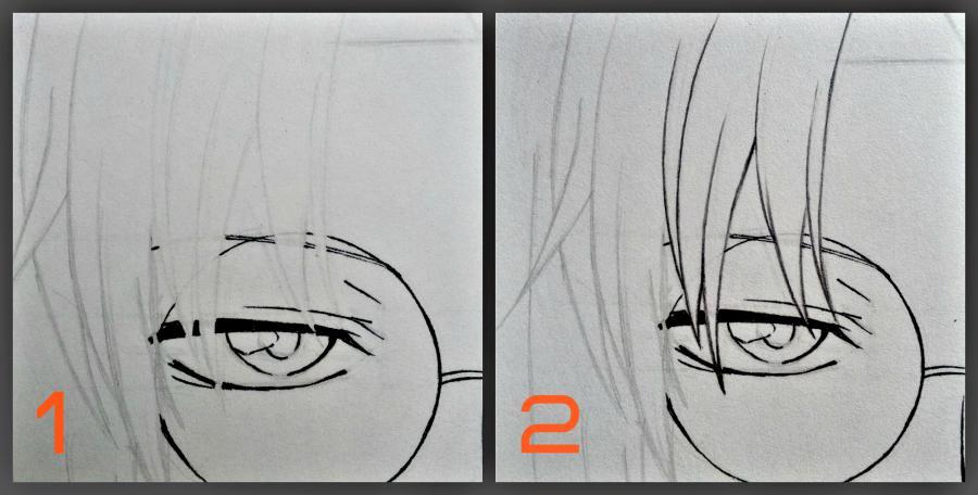 Рисуем Микагэ из Очень приятно, Бог простым - шаг 9