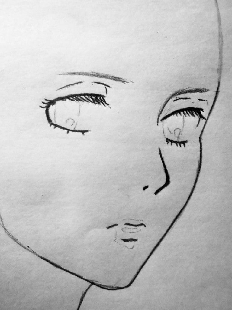Рисуем Микасу Акерман из аниме Атака титанов - шаг 2