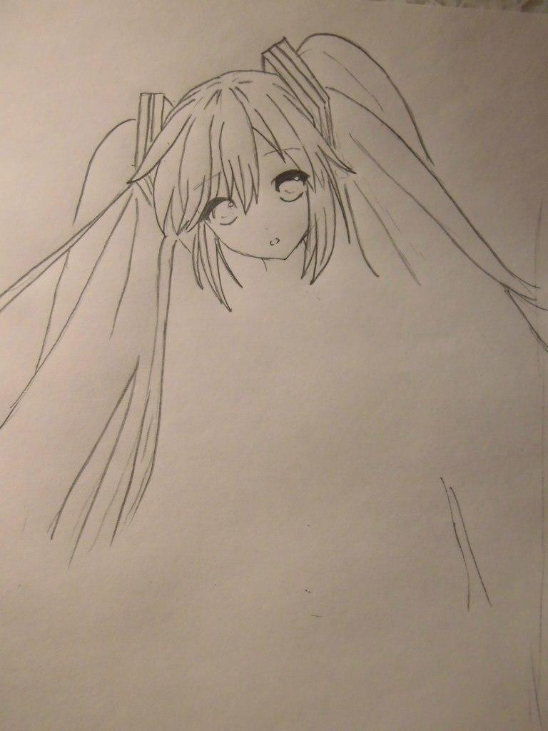Рисуем Мику Хацунэ из Вокалоидов - шаг 3