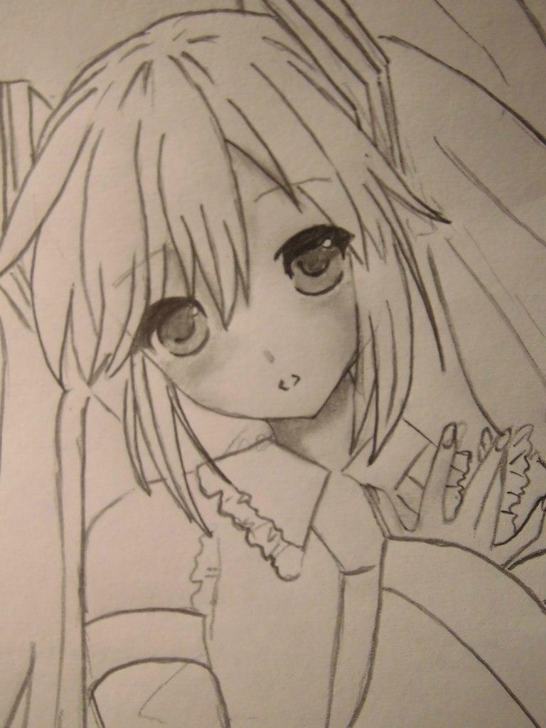 Рисуем Мику Хацунэ из Вокалоидов - шаг 5