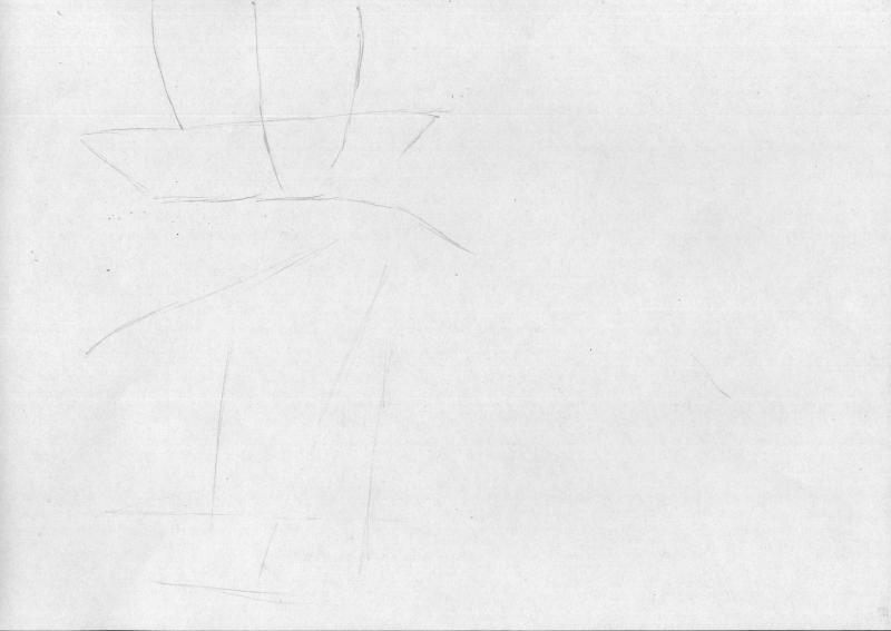 Рисуем грустную Мику Хацунэ - шаг 1