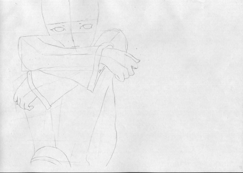 Рисуем грустную Мику Хацунэ - шаг 2