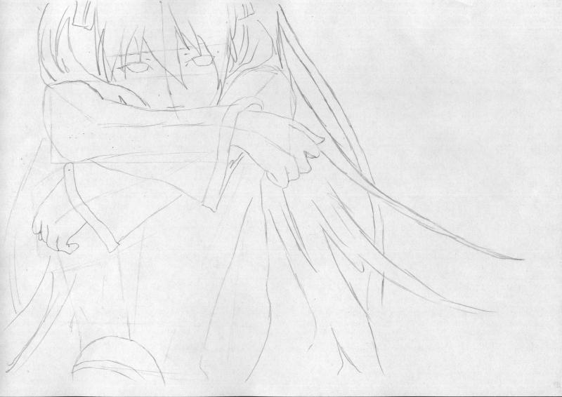 Рисуем грустную Мику Хацунэ - шаг 3