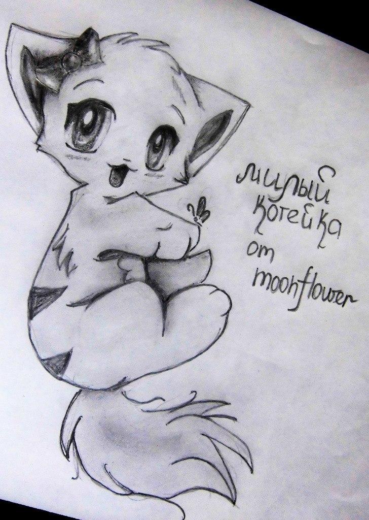 Рисуем аниме котенка - шаг 11