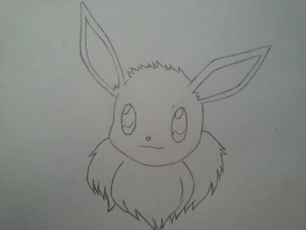 Рисуем милого покемона Иви - шаг 3