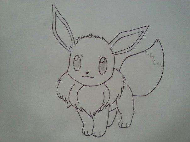 Рисуем милого покемона Иви - шаг 6